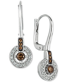 Le Vian Chocolatier® Diamond Circle Drop Earrings (1/3 ct. t.w.) in 14k White Gold