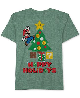 Nintendo Mario Happy Holidays T Shirt Little Boys 2 7