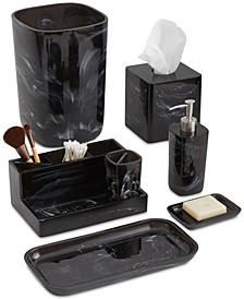 Murano Black Bath Accessories Collection