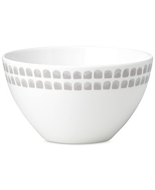 kate spade new york Charlotte Street North Grey Collection Soup/Cereal Bowl