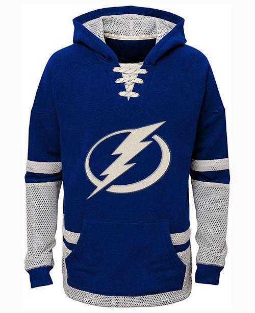 CCM Tampa Bay Lightning Vintage Hoodie, Big Boys (8-20