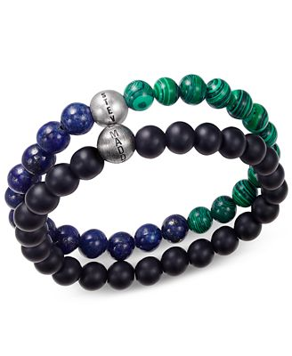 Steve Madden Men's 2-Pc. Multi-Beaded Bracelet Set