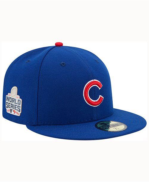 fd93a047d1a New Era Chicago Cubs World Series 59FIFTY Patch Cap - Sports Fan ...