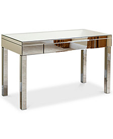 Gavyn Mirrored Desk, Quick Ship