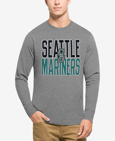 '47 Brand Men's Seattle Mariners Power Alley Long-Sleeve T-Shirt