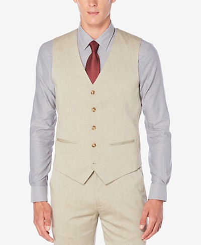 Perry Ellis Men's Classic-Fit Chambray Vest