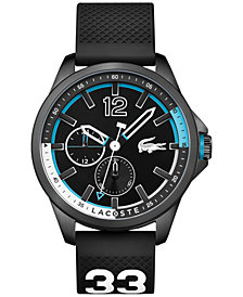 Lacoste Men's Capbreton Black Rubber Strap Watch 46mm 2010896