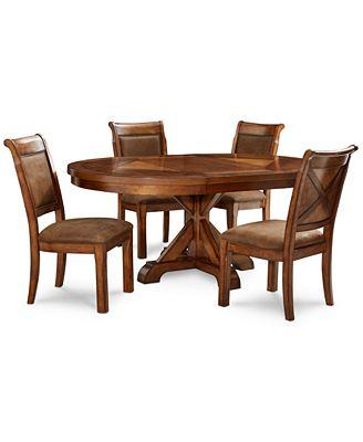 Expandable Furniture mandara round expandable furniture, 5-pc. set (round dining