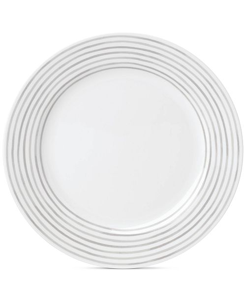 kate spade new york Charlotte Street East Grey Collection Dinner Plate