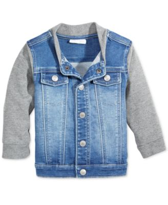 Image of First Impressions Denim Bomber Jacket, Baby Boys (0-24 months), Created for Macy's