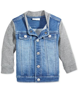 First Impressions Denim Bomber Jacket, Baby Boys (0-24 months ...