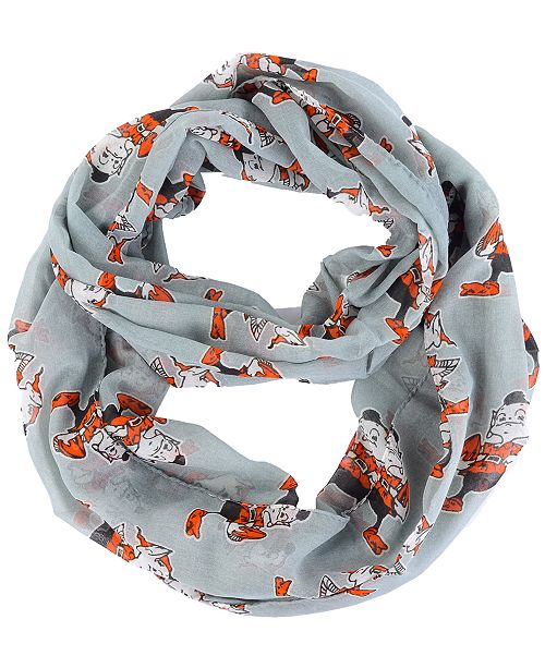 Forever Collectibles Cleveland Browns All Over Logo Infinity Wrap Scarf