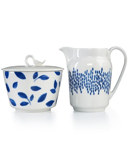 Martha Stewart Collection Stockholm Sugar Bowl & Creamer Set, Created for Macy's