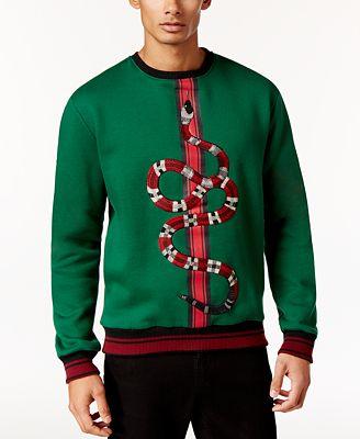 Hudson NYC Men's Embroidered Snake Sweatshirt