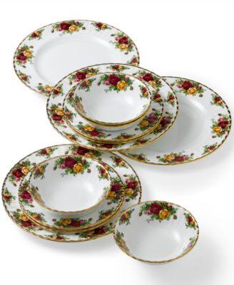 Royal Albert Old Country Roses 12-Piece Dinnerware Set Created for Macy\u0027s  sc 1 st  Macy\u0027s & Fine China Dinnerware Sets and Fine China - Macy\u0027s