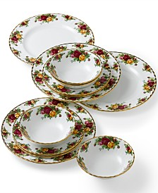 Old Country Roses 12-Piece Dinnerware Set, Service for 4, Created for Macy's,