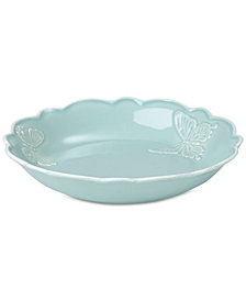 Lenox Butterfly Meadow Carved Collection Individual Pasta Bowl
