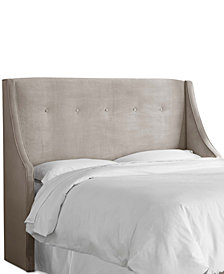 Galvez Button Tufted Wingback Headboards, Quick Ship