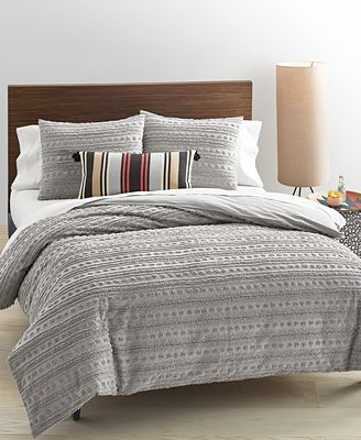 Whim by Martha Stewart Collection On the Dot Smoke Stack Bedding Collection, Only at Macy's
