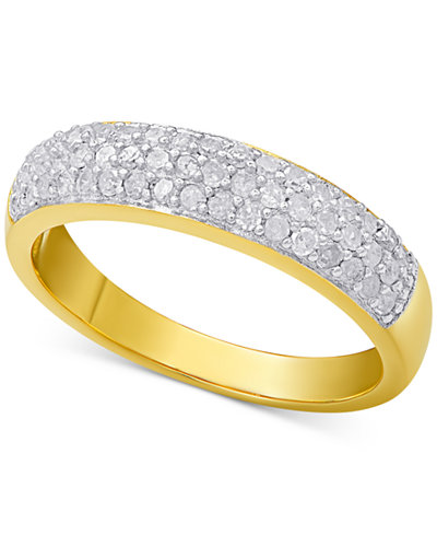 Diamond Pavé Ring (1/2 ct. t.w.) in sterling silver, 18k gold-plated sterling silver or 18k rose gold-plated sterling silver