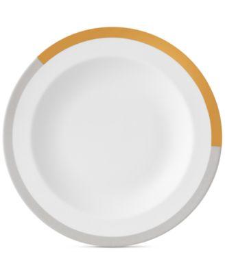 Castillon Gold/Gray Collection Rim Soup Bowl