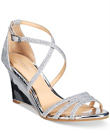 Jewel Badgley Mischka Hunt Evening Wedge Sandals