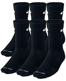 Men's Socks, Dri Fit Crew 6 Pairs