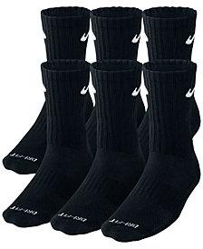 Nike Men's Socks, Dri Fit Crew 6 Pairs