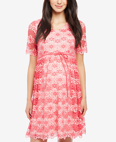 Motherhood Maternity Lace Dress