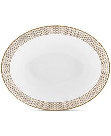Lismore Diamond Gold Collection Open Vegetable Bowl