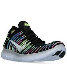 Nike Women's Free Run Flyknit Running Sneakers from Finish Line