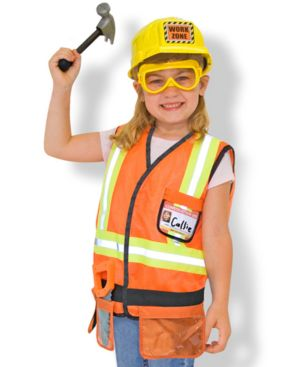 Melissa & Doug Kids Costume, Construction Worker Dress Up Set