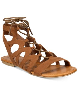 Image of American Rag Marlie Lace-Up Sandals, Only at Macy's