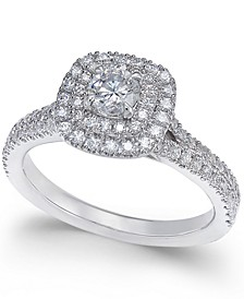 Certified Diamond Engagement Ring (1 ct. t.w.) in 18k White Gold, Created for Macy's
