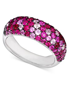 Balissima by EFFY Multicolor Ruby Band Ring (3-9/10 ct. t.w.) in Sterling Silver