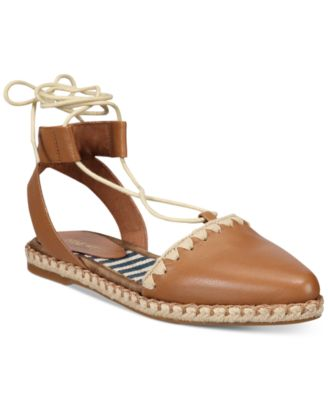 Image of Nine West Unah Two-Piece Lace-Up Platform Espradrille Flats