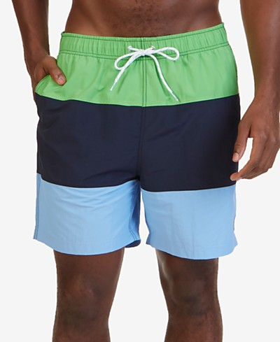 Nautica Men's Colorblocked 7 1/2 Swim Trunks