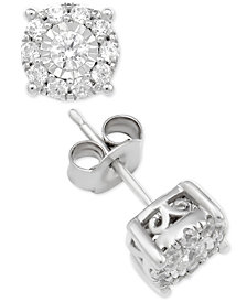 Diamond Stud Collection in 14k White Gold
