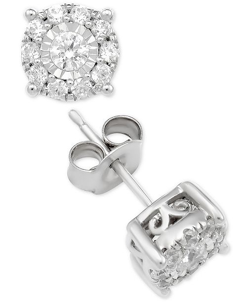 Macy's Diamond Stud Collection in 14k White Gold