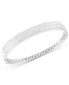 Diamond Bangle Bracelet (2 ct. t.w.) in 10k White Gold