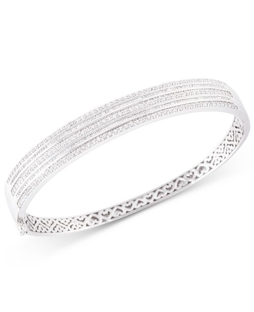 Macy's Diamond Bangle Bracelet (2 ct. t.w.) in 10k White Gold