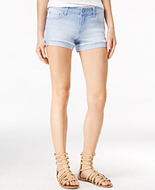 "Celebrity Pink Juniors' 3"" Cuffed Denim Shorts"