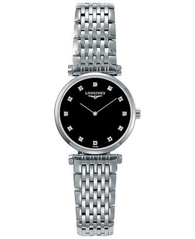 Longines Women's Swiss La Grande Classique De Longines Diamond Accent Stainless Steel Bracelet Watch 24mm L42094586