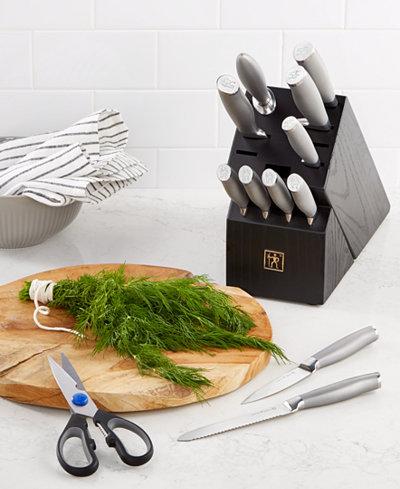 J.A. Henckels International Modernist 13-Pc. Knife Block Set, Created for Macy's