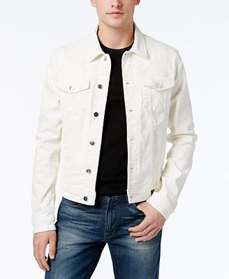 GUESS Men's Denim Jacket - Coats & Jackets - Men - Macy's