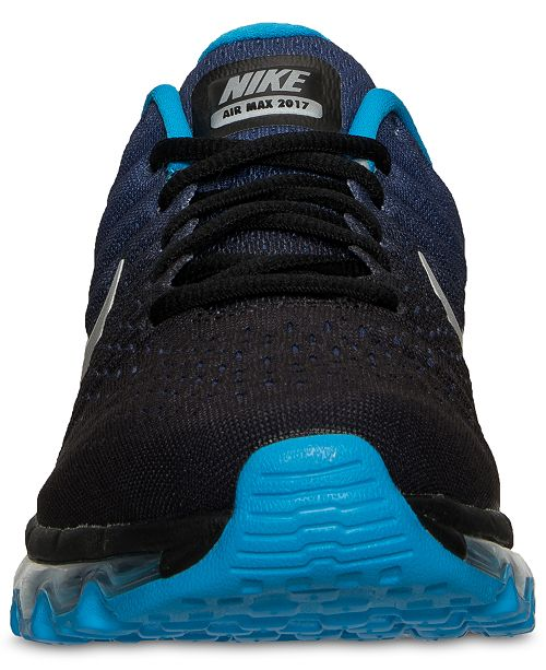 hot sale online 73937 05153 Nike Big Boys' Air Max 2017 Running Sneakers from Finish ...
