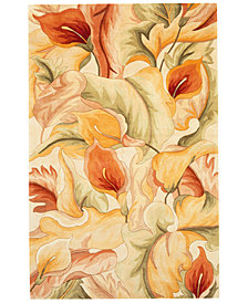 "Kas Catalina 758 Ivory Calla Lilies 5'6"" Round Rug"