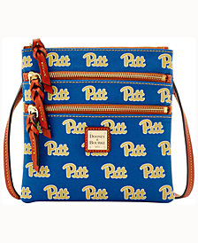 Dooney & Bourke Pittsburgh Panthers Triple-Zip Crossbody Bag