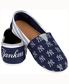 Forever Collectibles Women's New York Yankees Canvas Stripe Shoe