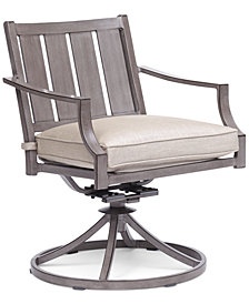 Wayland Outdoor Swivel Chair with Sunbrella® Cushion, Created for Macy's